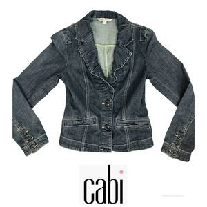 Cabi Lucy Fitted Denim Jacket Size XS